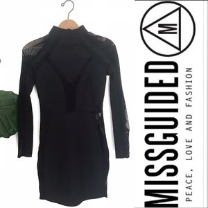 Misguided Mock Neck Long Sleeve Mesh Desss! NWT!